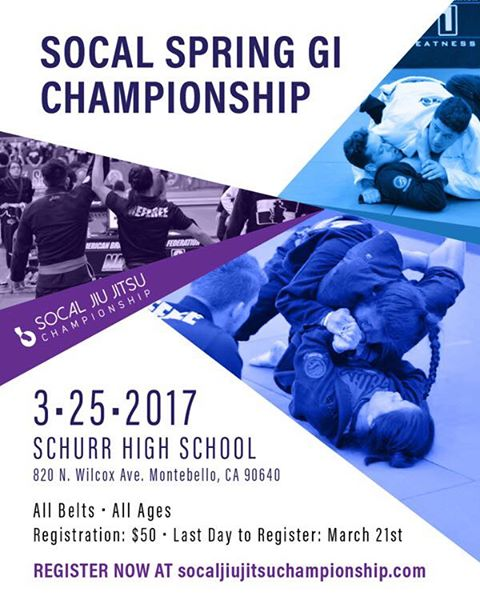 I'll be at the SoCal Spring Gi Championship